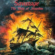 "Coperta albumului ""The Wake of Magellan"" al trupei rock Savatage."