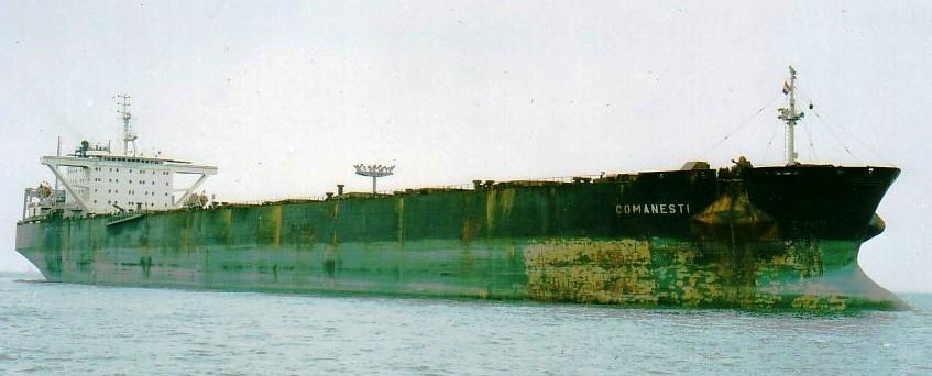 """A fost mineralierul """"Comăneşti"""". La data lansării la apă, construcţia a fost considerată """"cea mai mare navă realizată vreodată în România""""."""