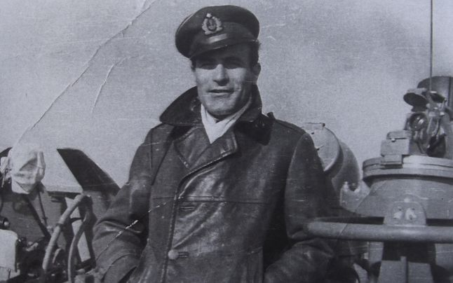 """Pantea ANDONE, comandantul cargoului """"Săbăreni"""" (arhiva personală)"""