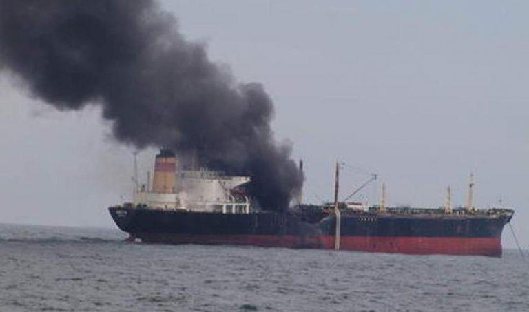 """Explozie și incendiu la bordul petrolierului bulgăresc """"Mesta"""", nu departe de Cazinou!"""