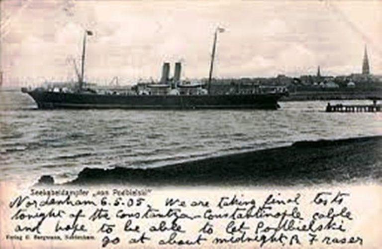 În anul 1905, Regele Carol I a inaugurat cablul submarin Constanţa – Constantinopol