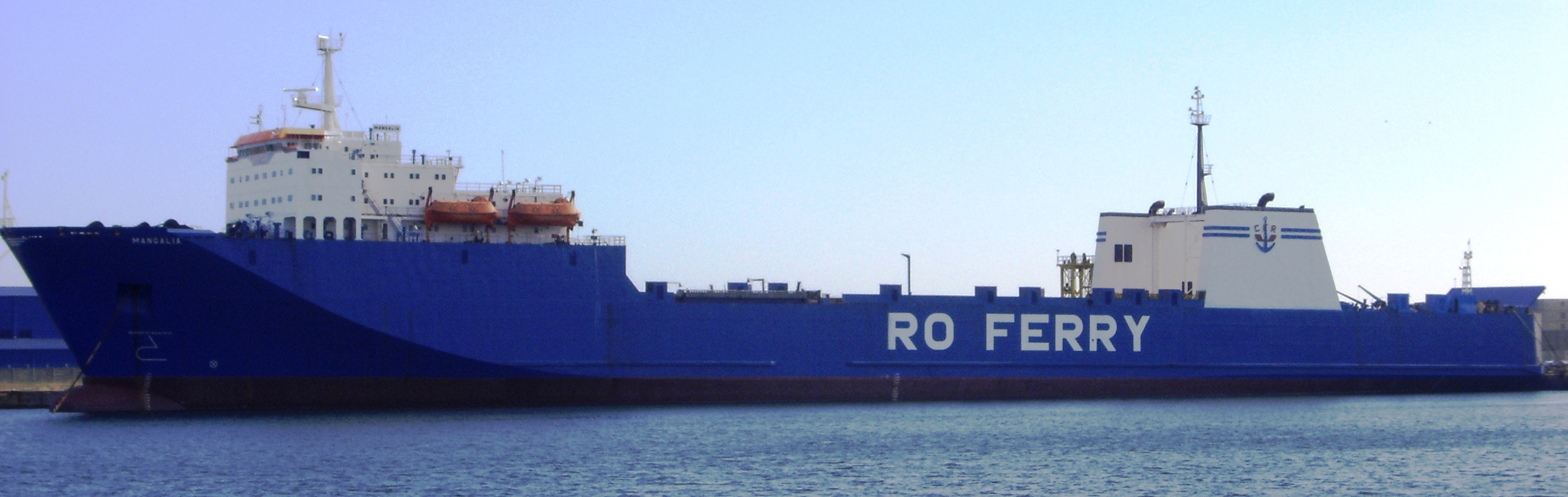 Ferry-boat MANGALIA (foto realizată la 26 octombrie 2005).
