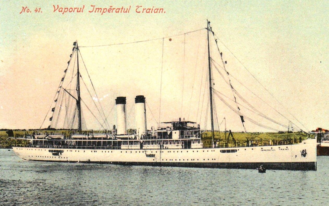 Nava ÎMPĂRATUL TRAIAN (ilustrată din colecția Vasile Mihalache).
