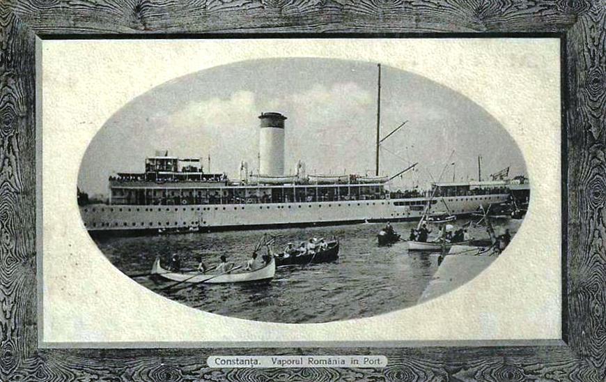 Nava de pasageri ROMANIA in portul Constanta