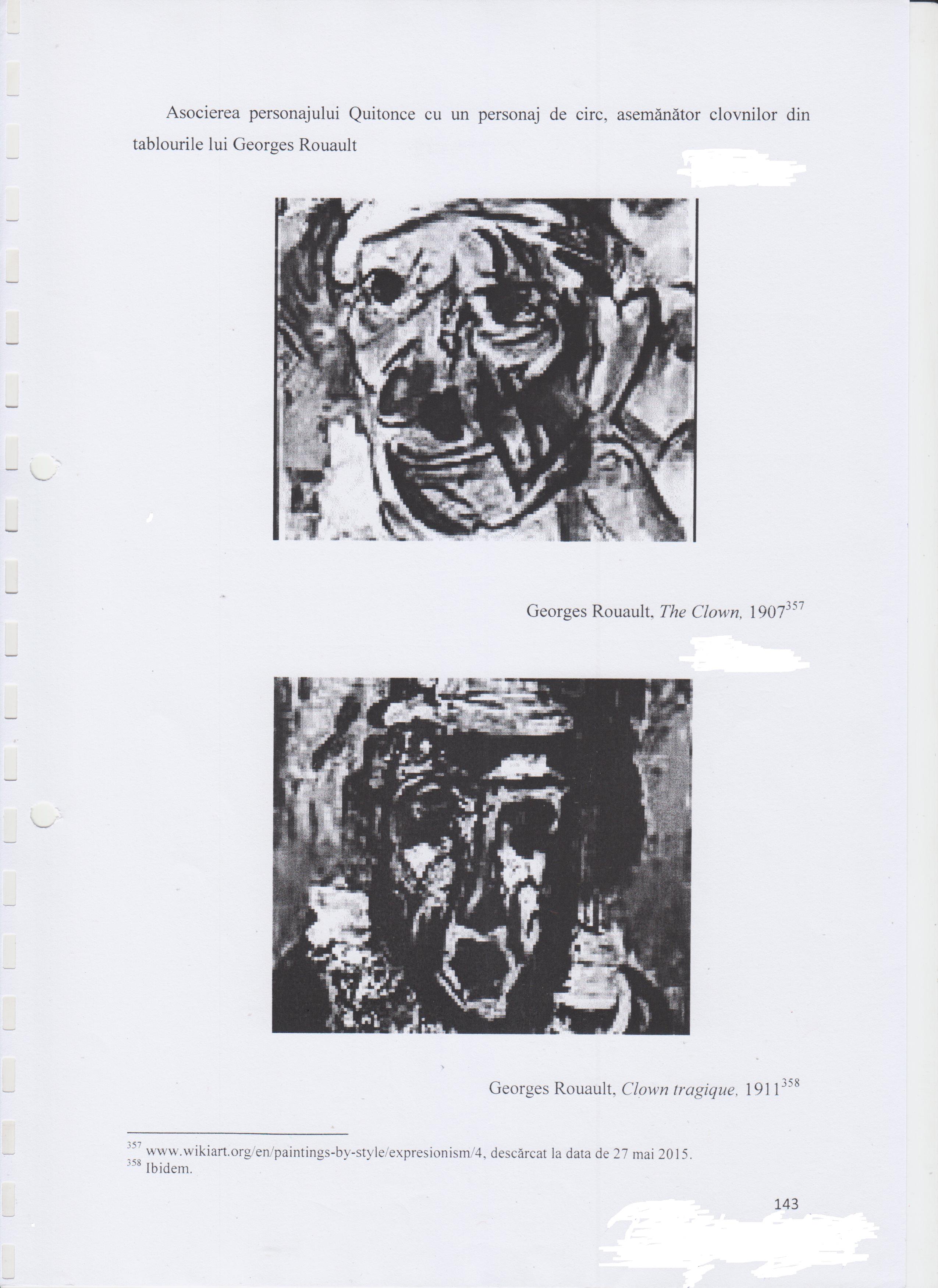 În asemenea hal arată o pagină (143) pentru cercetarea subiectului ales. Remarcați spațiile lăsate între marginile paginii și fotografii și, de asemenea, cele dintre fotografii și explicațiile la acestea! Cele 200 de pagini ale lucrării trebuiau acoperite cu ceva! Și ca aceasta mai sunt zeci de pagini!