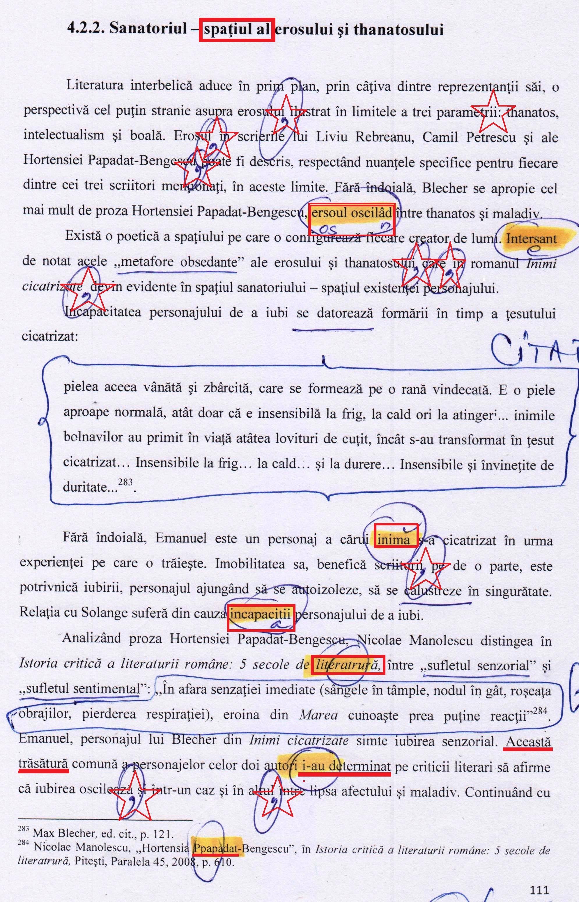 Într-un hal fără (de) hal sau cum arată o pagină dintr-o lucrare de doctor(at) în FILOLOGIE! Și ca aceasta sunt zeci și zeci de pagini!