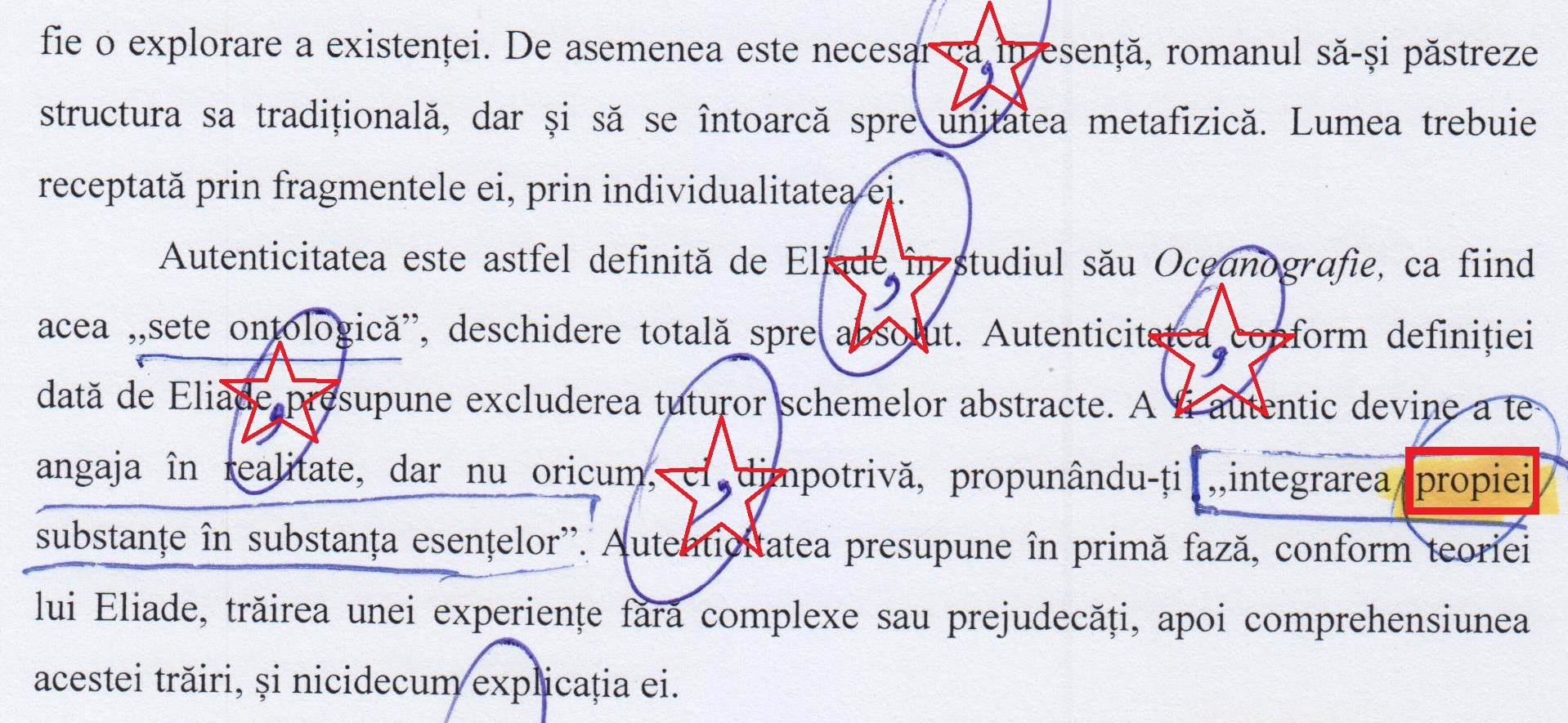 """""""Propiei"""" (!!!), duduia doctor în FILOLOGIE ;i director de Colegiu Național Pedagogic? (pag. 56)."""