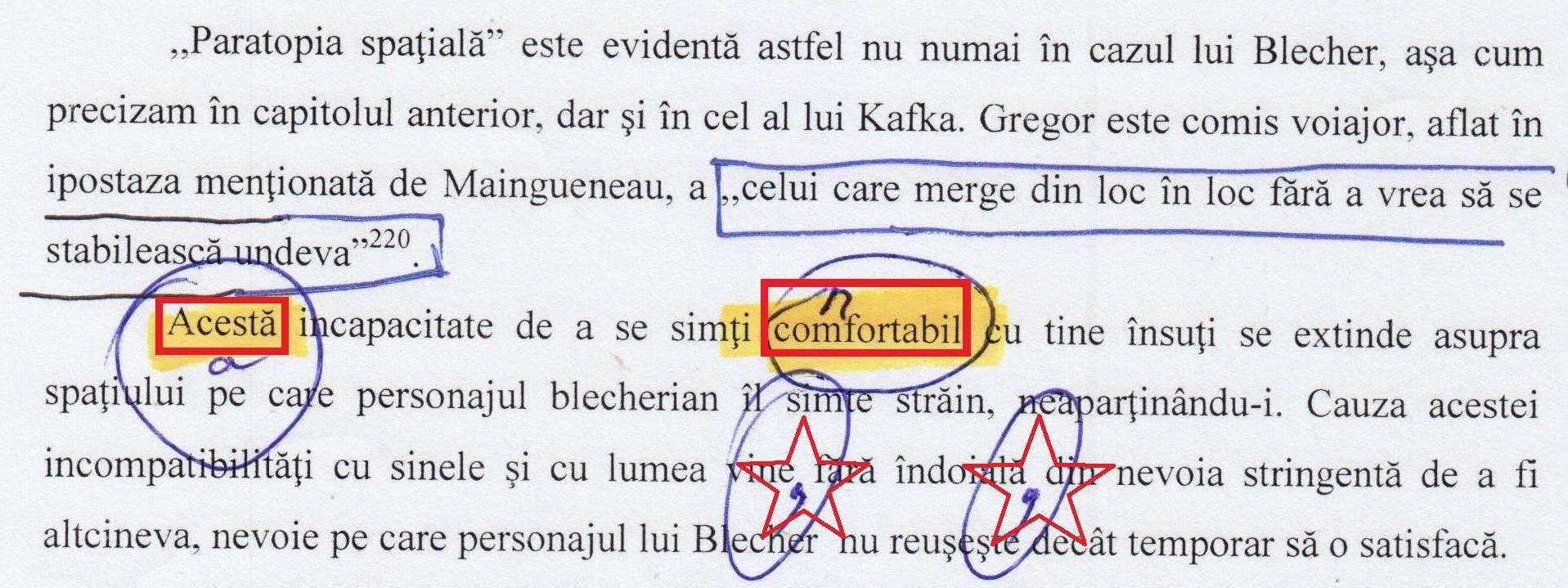 """Comfortabil"", coana doctor Ciobotaru? (pag. 90)."