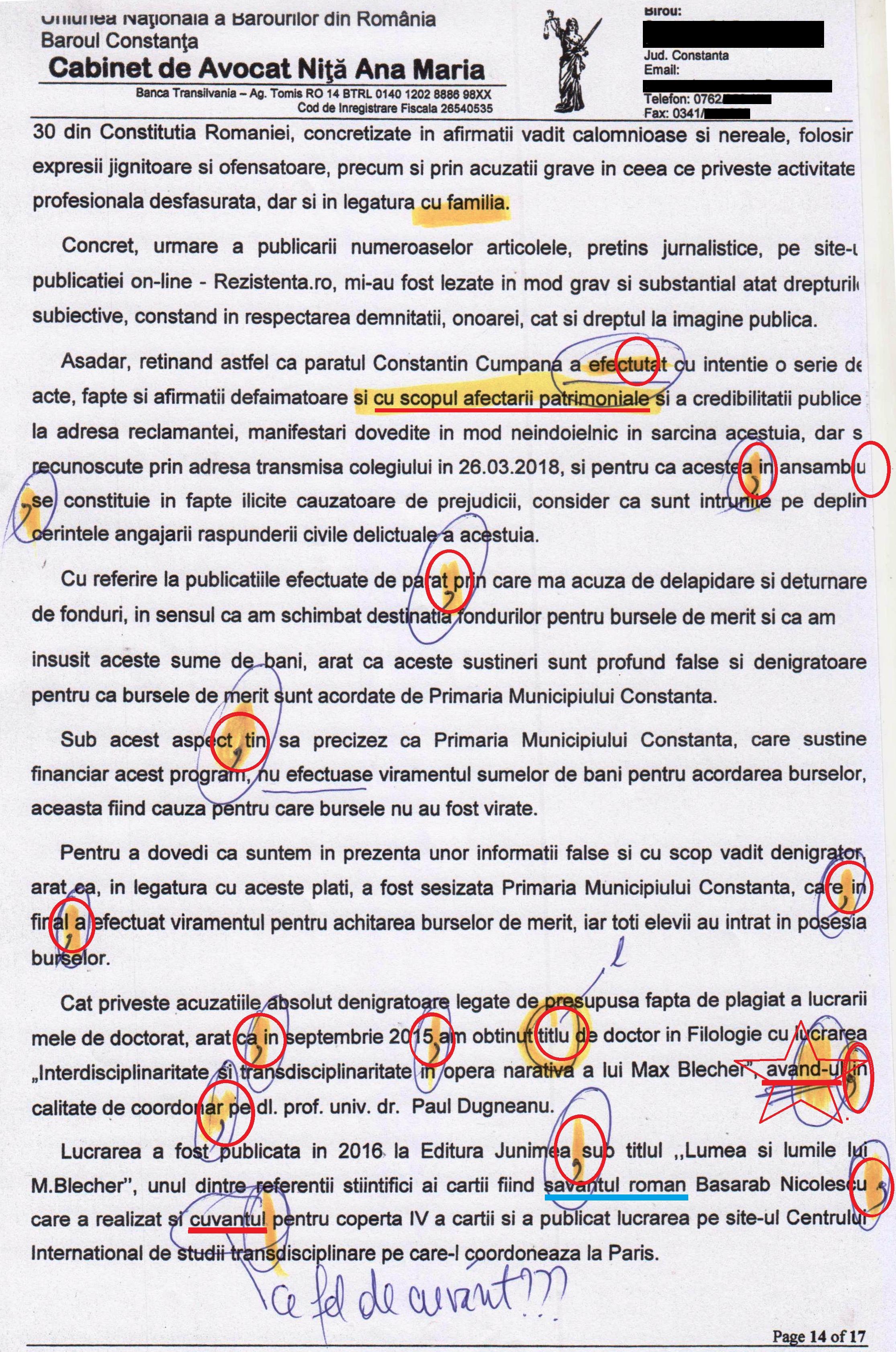 Pagina 14 conține o eroare grosolană, demnă de antologia perlelor din tezele de clasa a V-a.