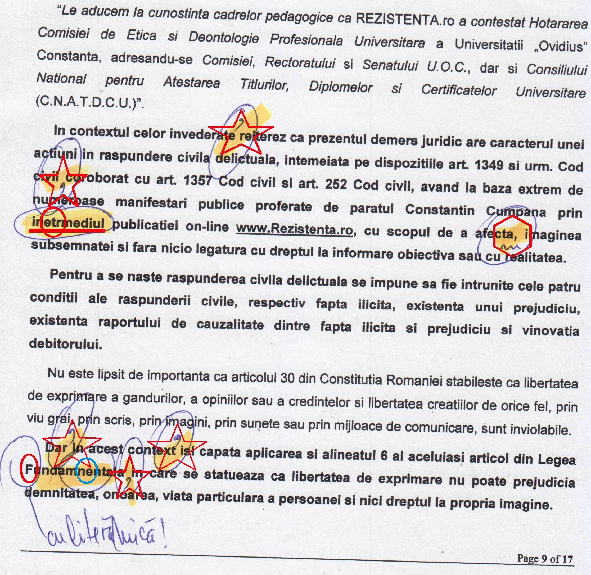 Pagina 2 abundă de agramatisme grave, intolerabile și rușinoase pentru un profesor de limba română, doctor în Filologie!