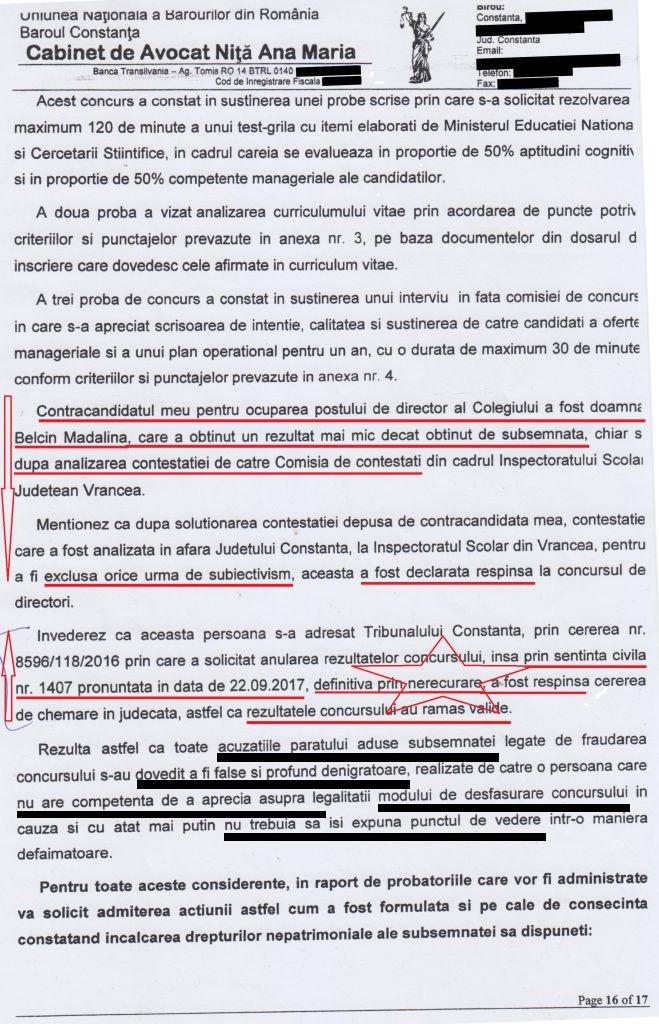 Minciunile ordinare ale unei escroace (pag. 16 din acțiunea de CHEMARE în JUDECATĂ a publicației Rezistenta.ro).