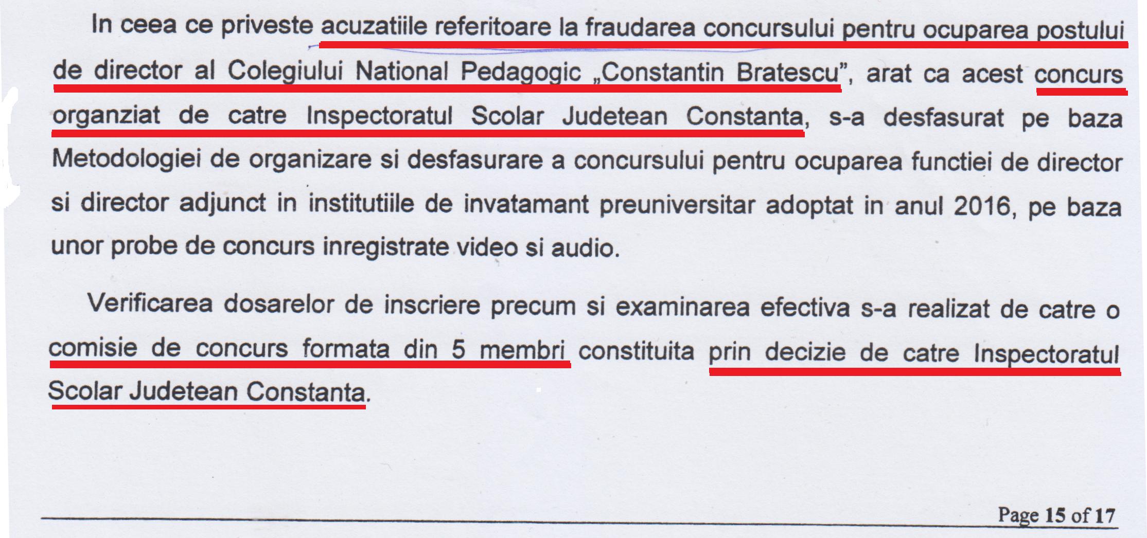 Deși a dec larat unor publicații locale că nu cunoaște amănunte din dosarul de fraudare a concursului, escroaca se dovedește o cunoscătoare a detaliilor acestuia atunci când a acționat în instanța publicația REZISTENTA.ro!!!